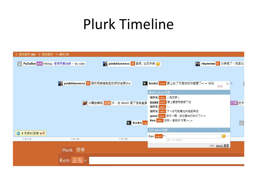 Plurk Timeline