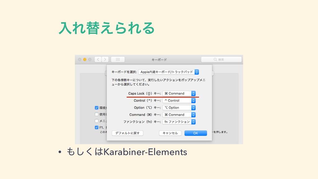 ೖΕସ͑ΒΕΔ • ͘͠Karabiner-Elements