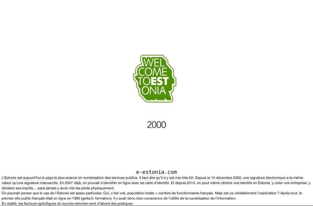 e-estonia.com 2000 L'Estonie est aujourd'hui le...