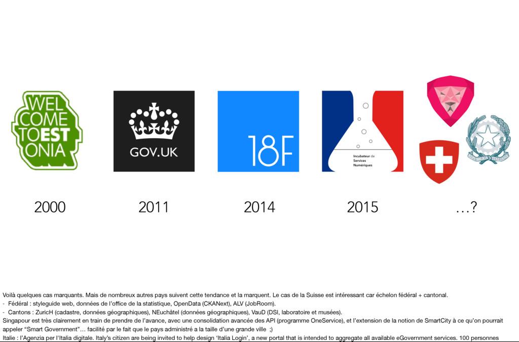2015 2014 2011 2000 …? Voilà quelques cas marqu...