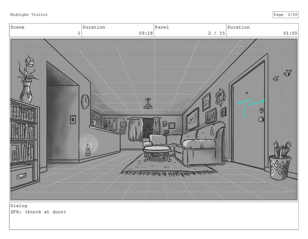 Scene 1 Duration 09:18 Panel 2 / 15 Duration 01...