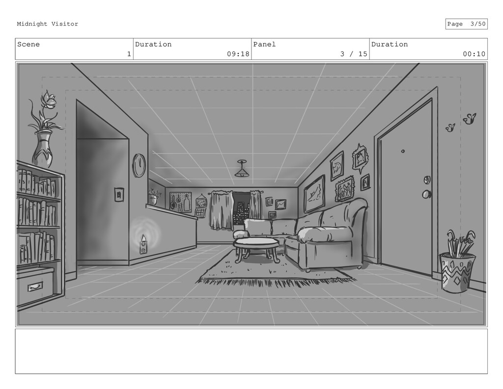 Scene 1 Duration 09:18 Panel 3 / 15 Duration 00...