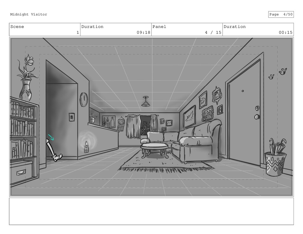 Scene 1 Duration 09:18 Panel 4 / 15 Duration 00...