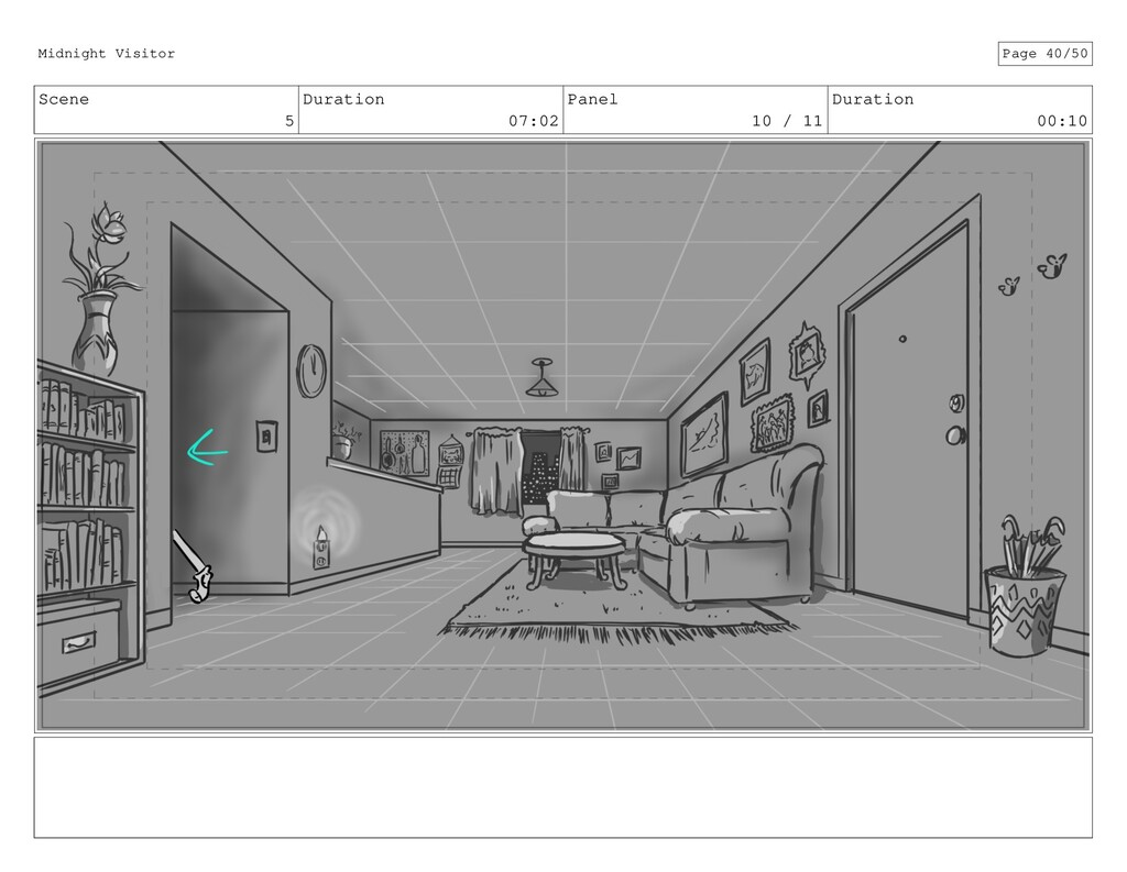 Scene 5 Duration 07:02 Panel 10 / 11 Duration 0...