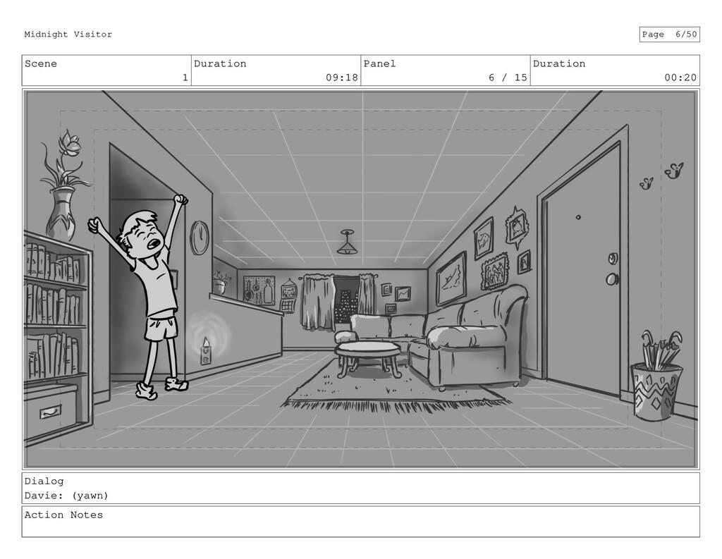 Scene 1 Duration 09:18 Panel 6 / 15 Duration 00...