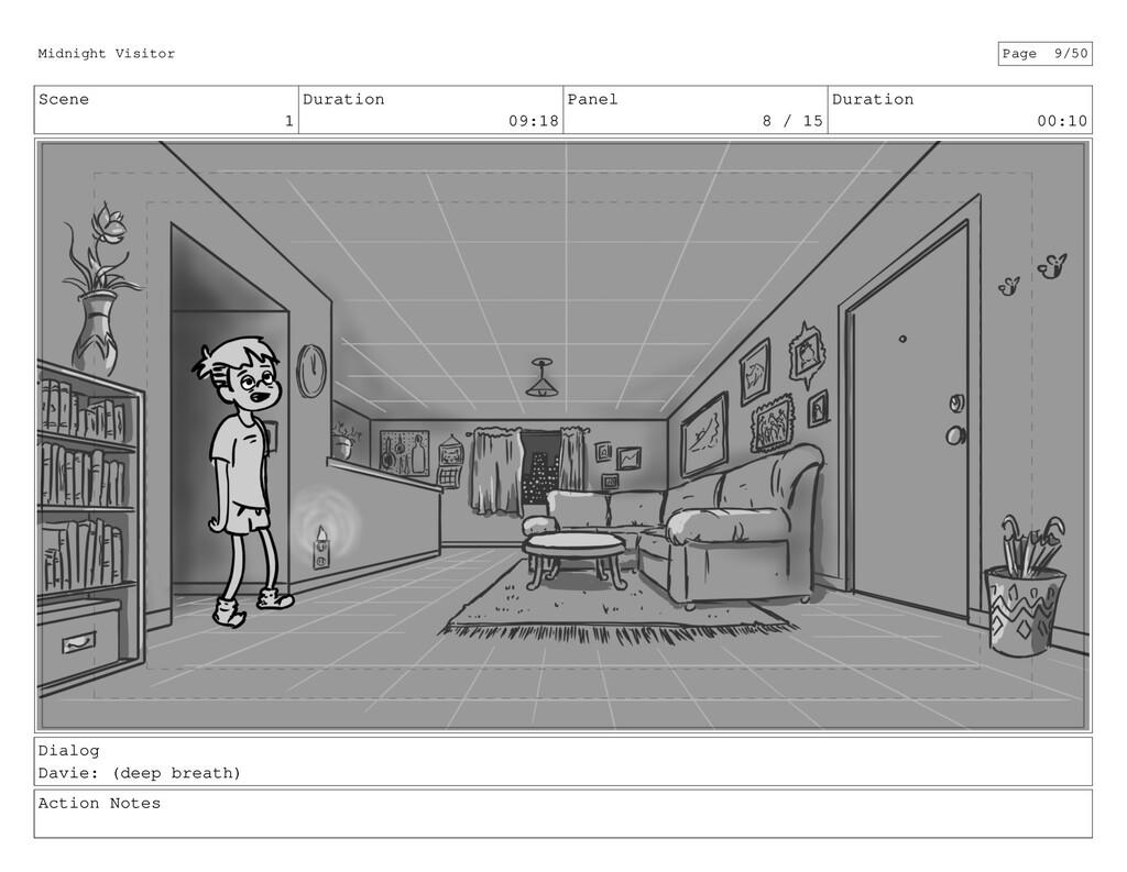 Scene 1 Duration 09:18 Panel 8 / 15 Duration 00...