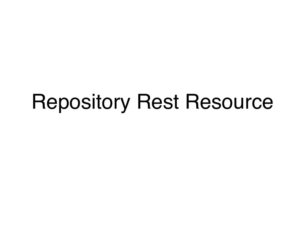 Repository Rest Resource