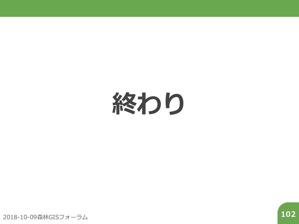 2018-10-09森林GISフォーラム 102 終わり