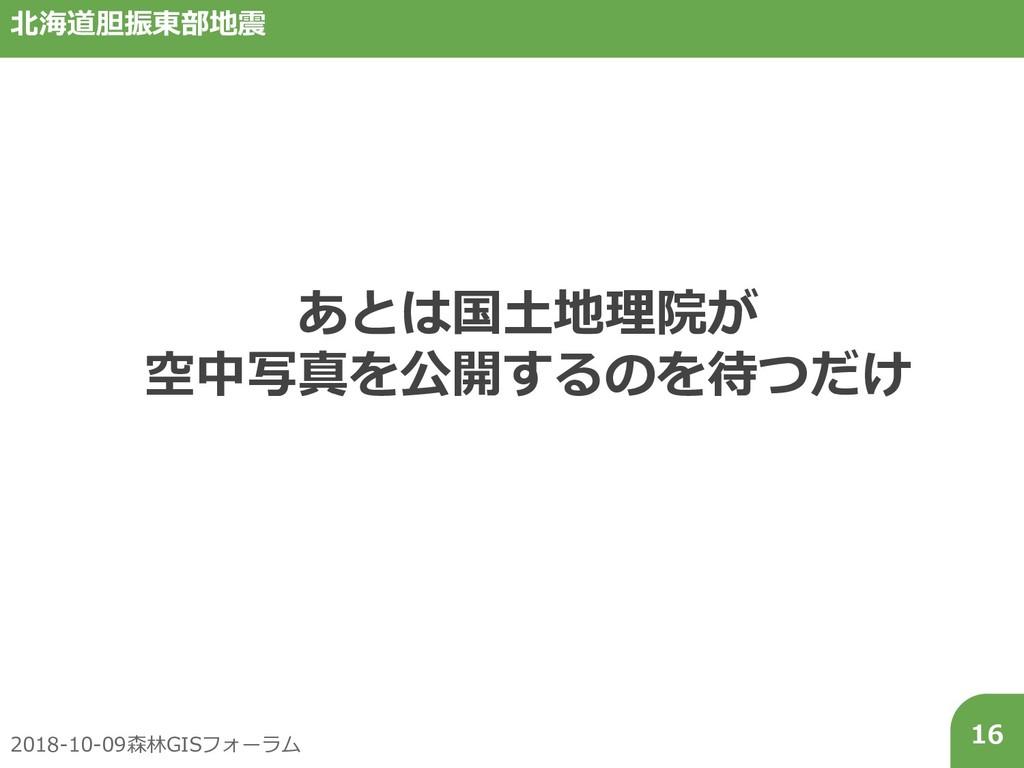 2018-10-09森林GISフォーラム 16 北海道胆振東部地震 あとは国土地理院が 空中写...