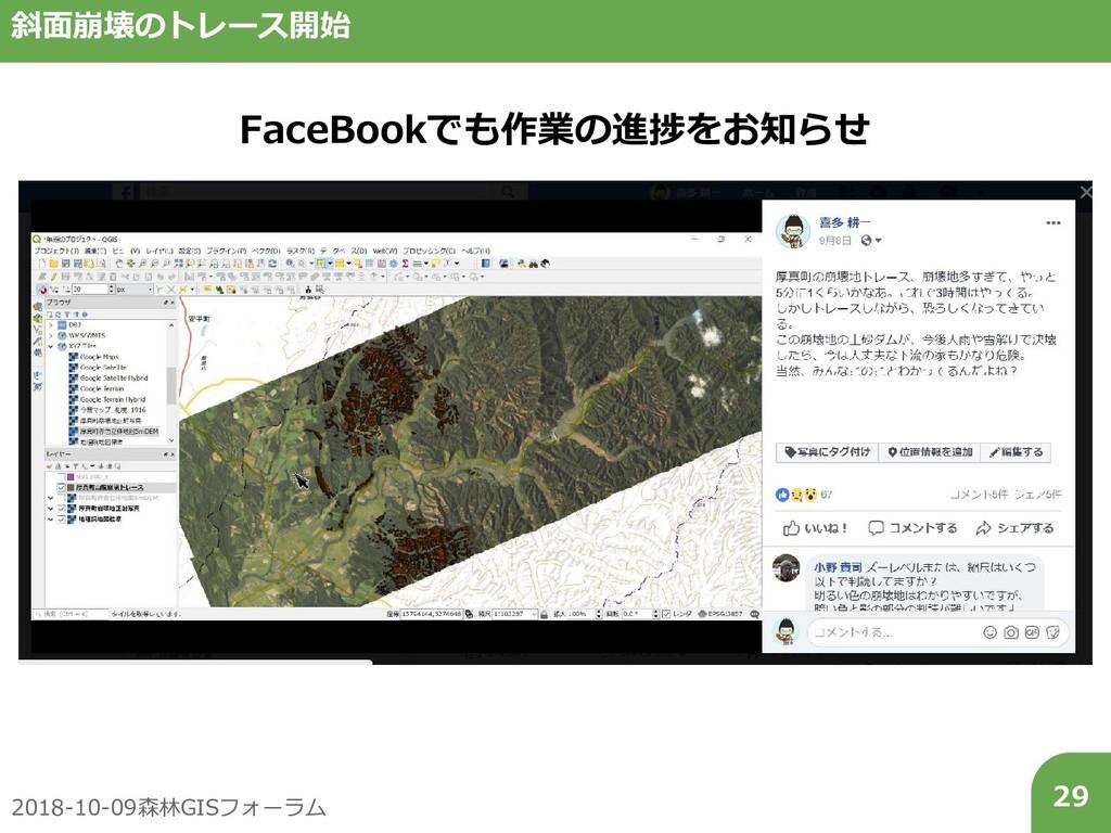2018-10-09森林GISフォーラム 29 斜面崩壊のトレース開始 FaceBookでも作...