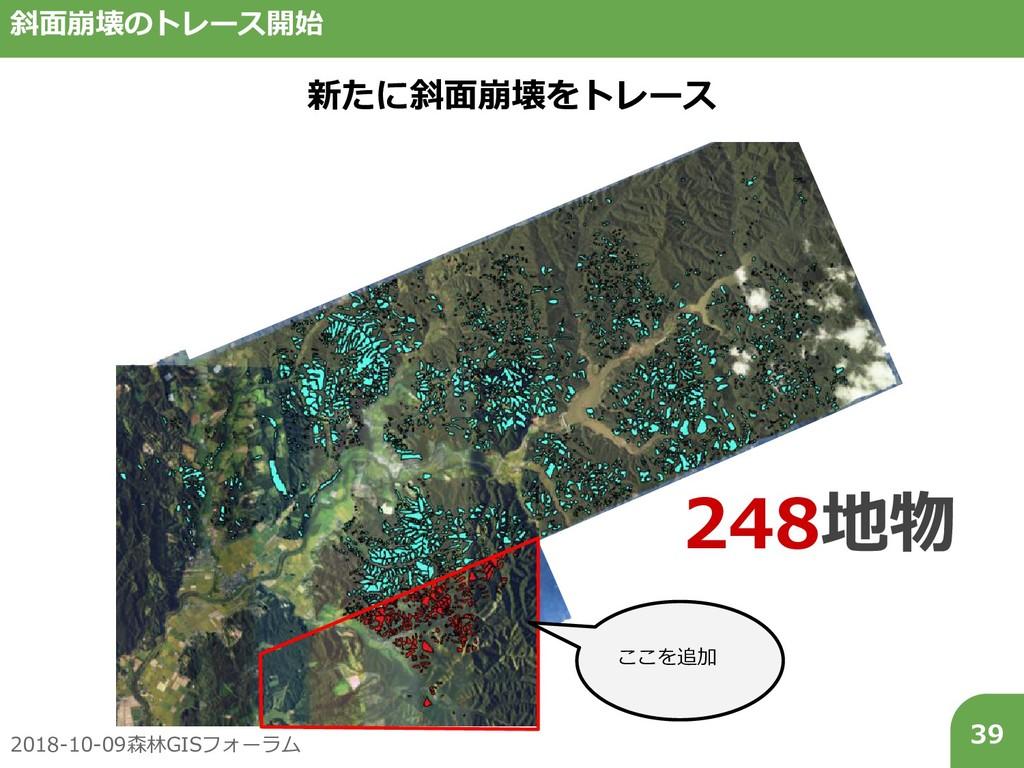 2018-10-09森林GISフォーラム 39 斜面崩壊のトレース開始 新たに斜面崩壊をトレー...
