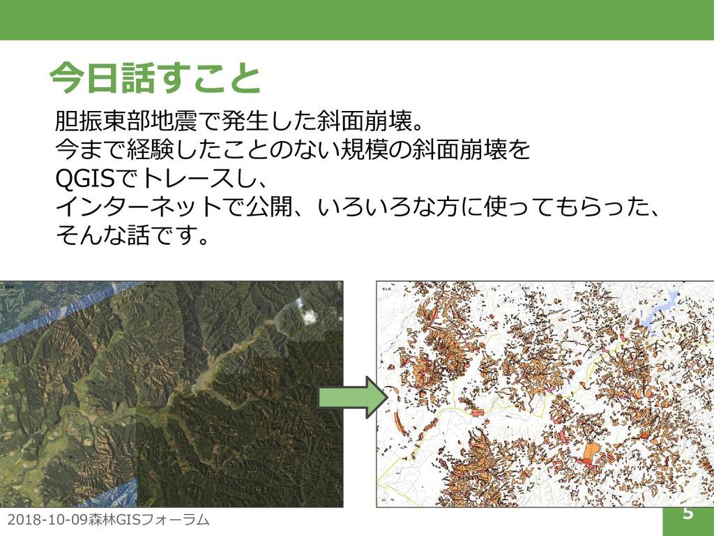 2018-10-09森林GISフォーラム 5 今日話すこと 胆振東部地震で発生した斜面崩壊。 ...