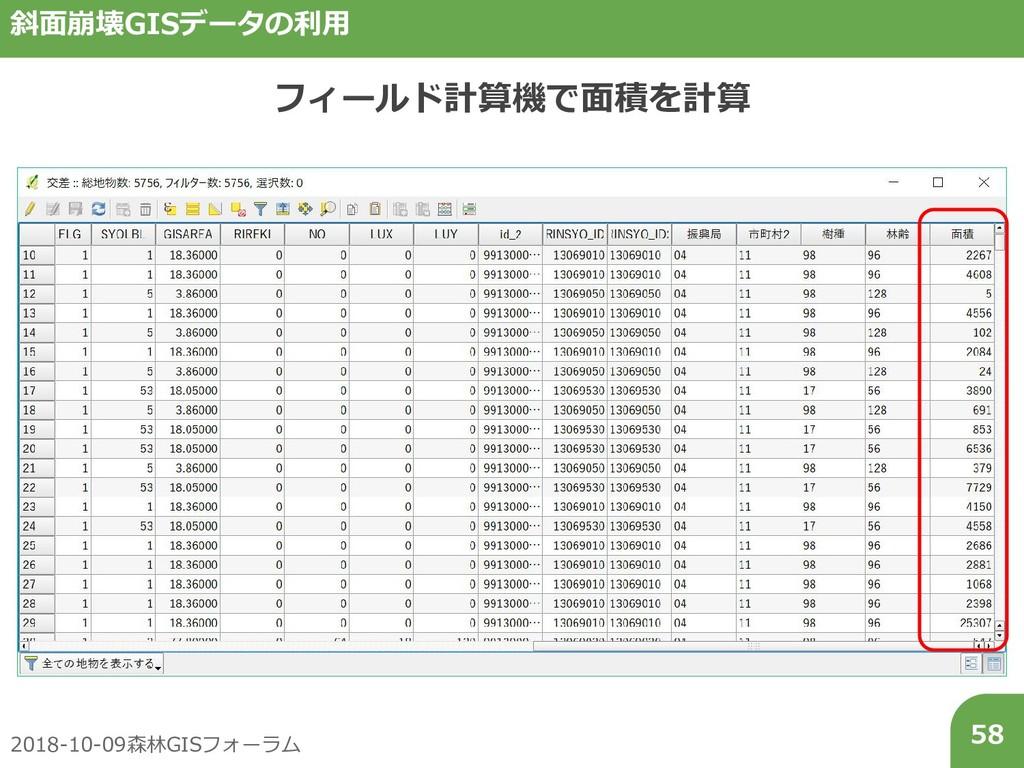 2018-10-09森林GISフォーラム 58 斜面崩壊GISデータの利用 フィールド計算機で...