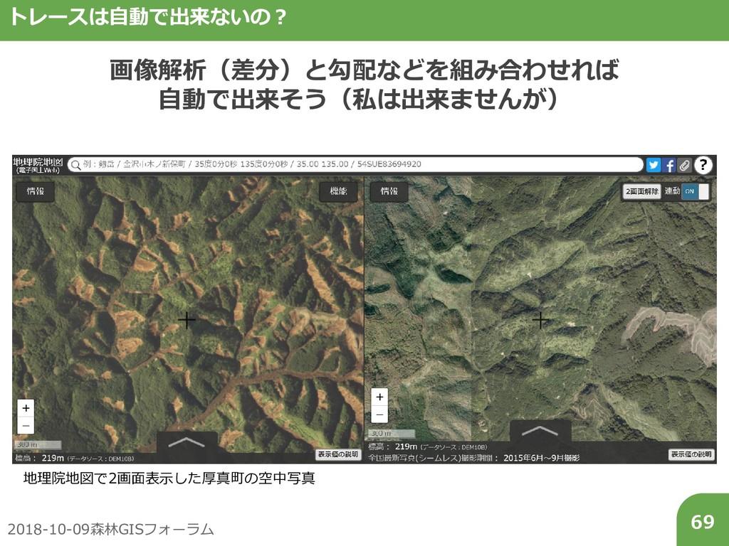 2018-10-09森林GISフォーラム 69 トレースは自動で出来ないの? 画像解析(差分)...