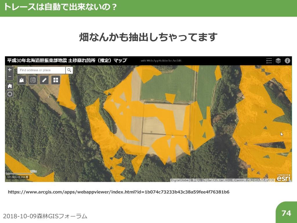 2018-10-09森林GISフォーラム 74 トレースは自動で出来ないの? 畑なんかも抽出し...