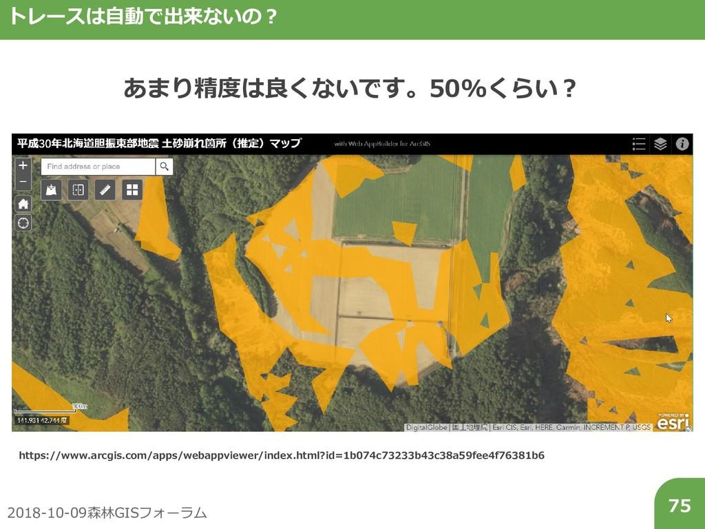 2018-10-09森林GISフォーラム 75 トレースは自動で出来ないの? あまり精度は良く...