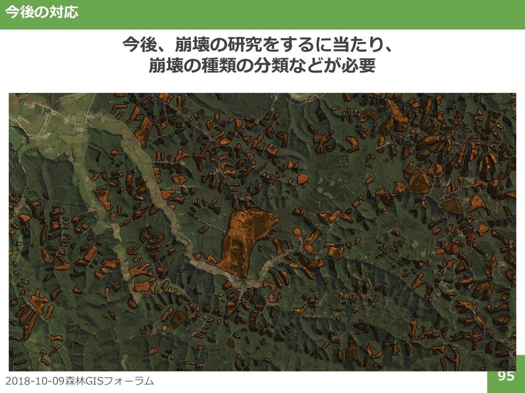 2018-10-09森林GISフォーラム 95 今後の対応 今後、崩壊の研究をするに当たり、 ...