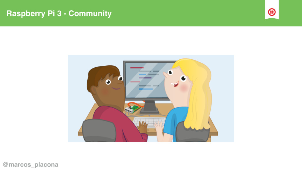 Raspberry Pi 3 - Community @marcos_placona