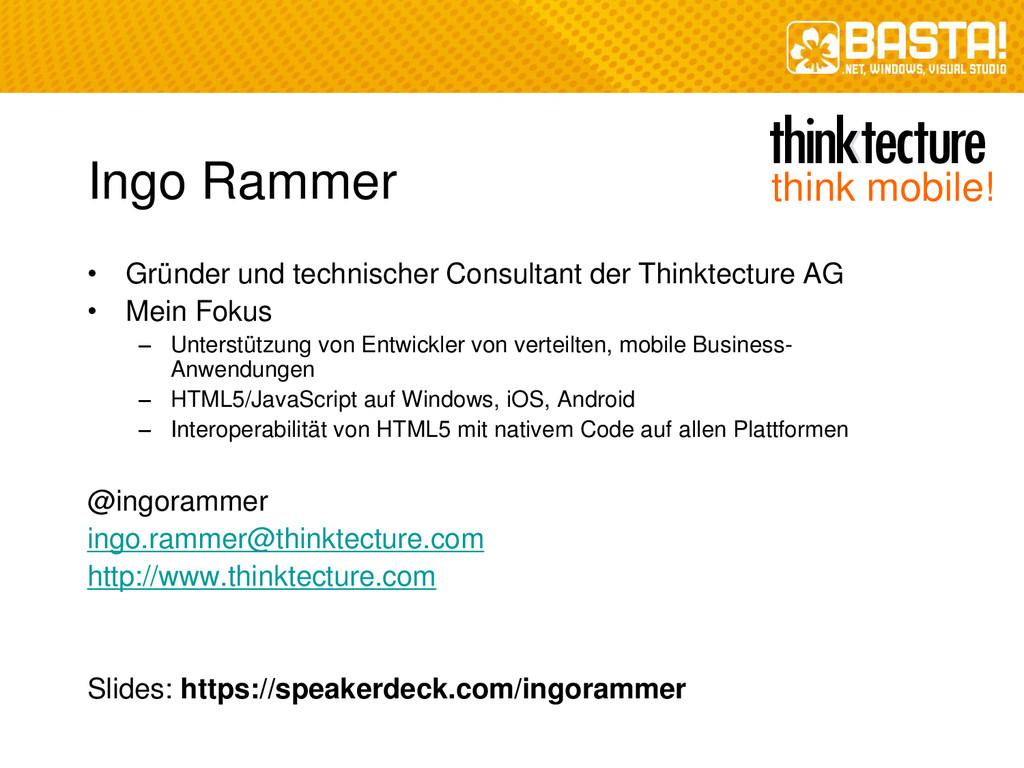 Ingo Rammer • Gründer und technischer Consultan...