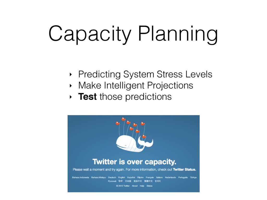Capacity Planning ‣ Predicting System Stress Le...