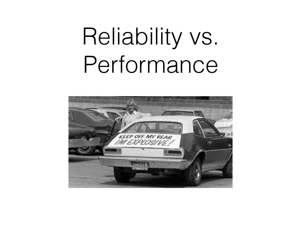 Reliability vs. Performance