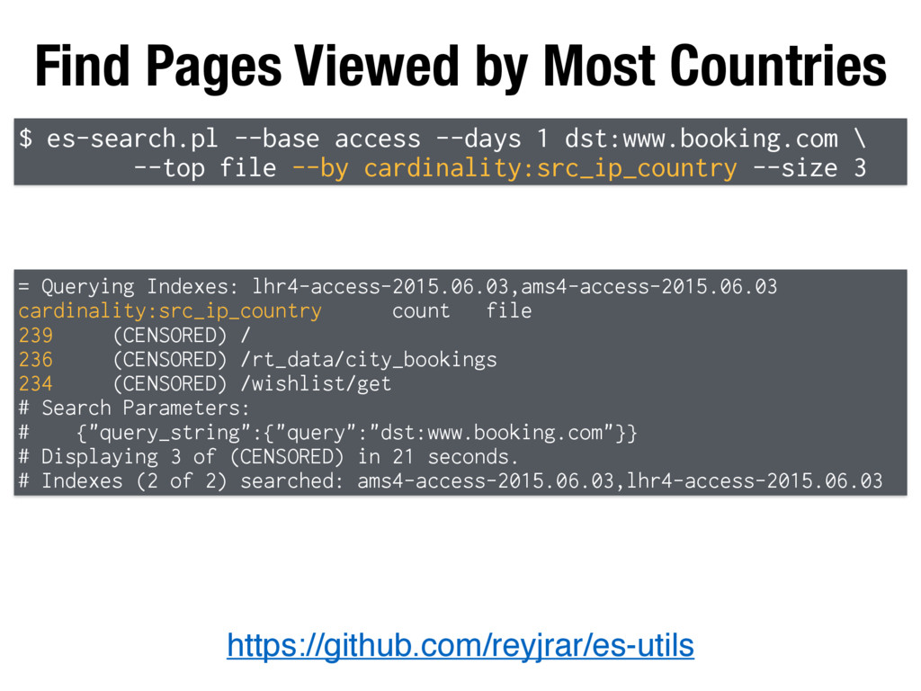 Find Pages Viewed by Most Countries https://git...