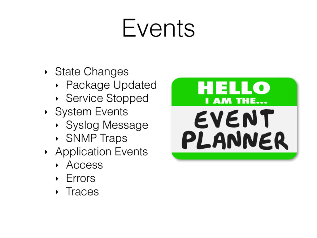 Events ‣ State Changes ‣ Package Updated ‣ Serv...