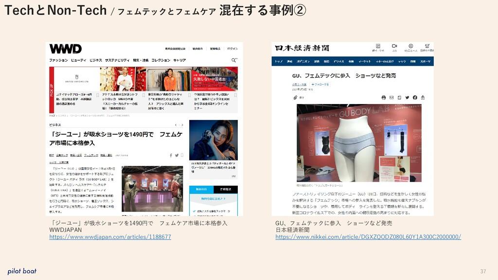 37 GU、フェムテックに参入 ショーツなど発売 日本経済新聞 https://www.nik...