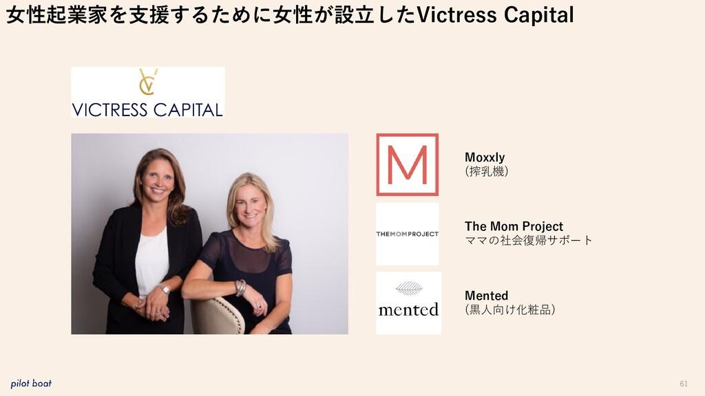 61 女性起業家を支援するために女性が設立したVictress Capital Moxxly ...