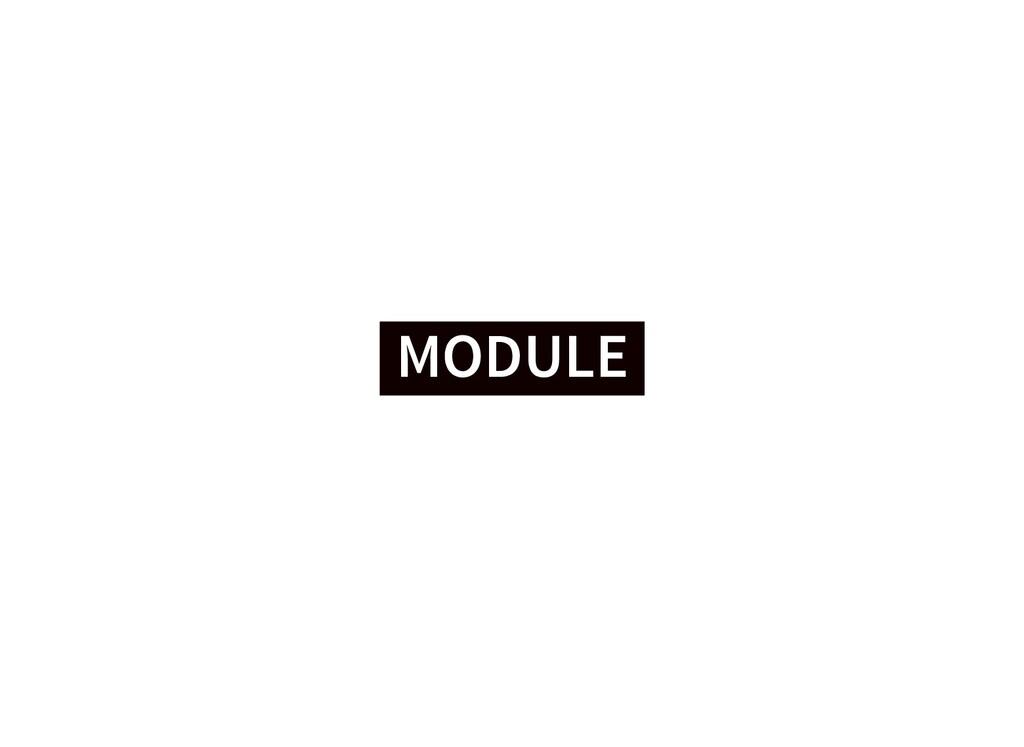 MODULE MODULE