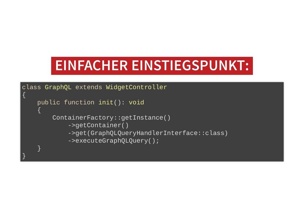 EINFACHER EINSTIEGSPUNKT: EINFACHER EINSTIEGSPU...