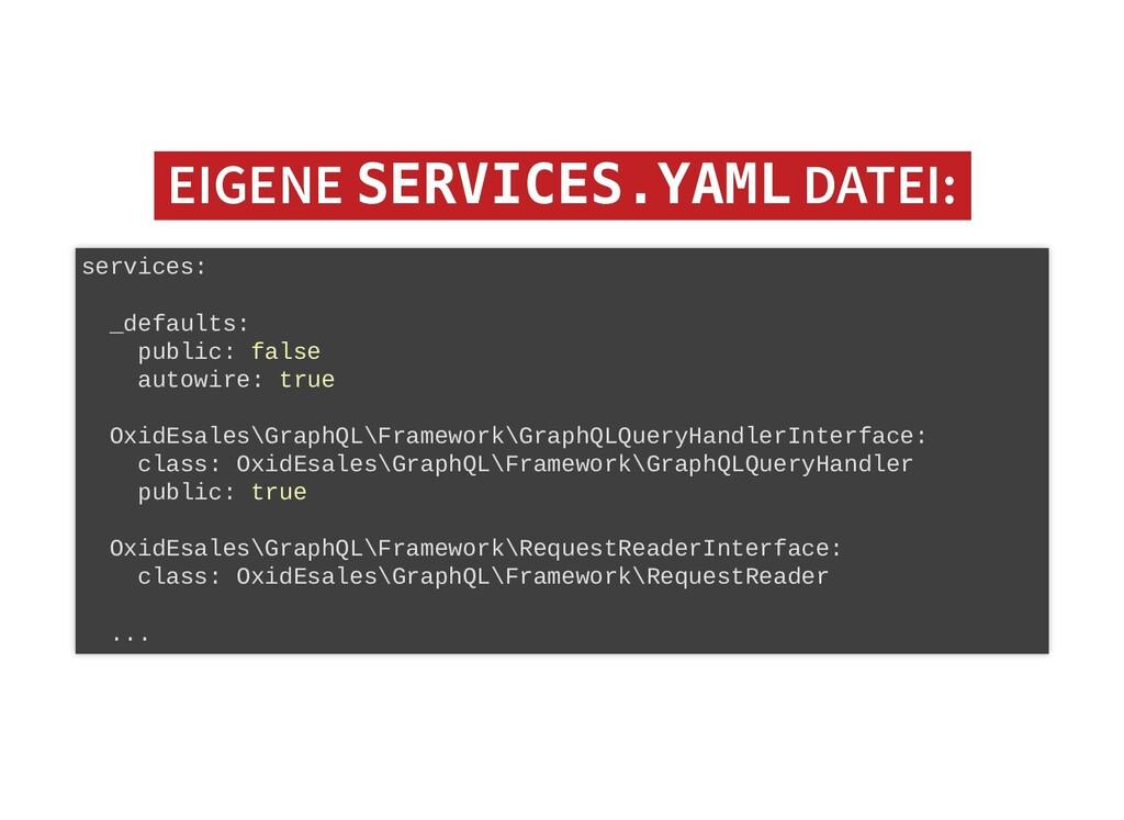 EIGENE EIGENE SERVICES.YAML SERVICES.YAML DATEI...
