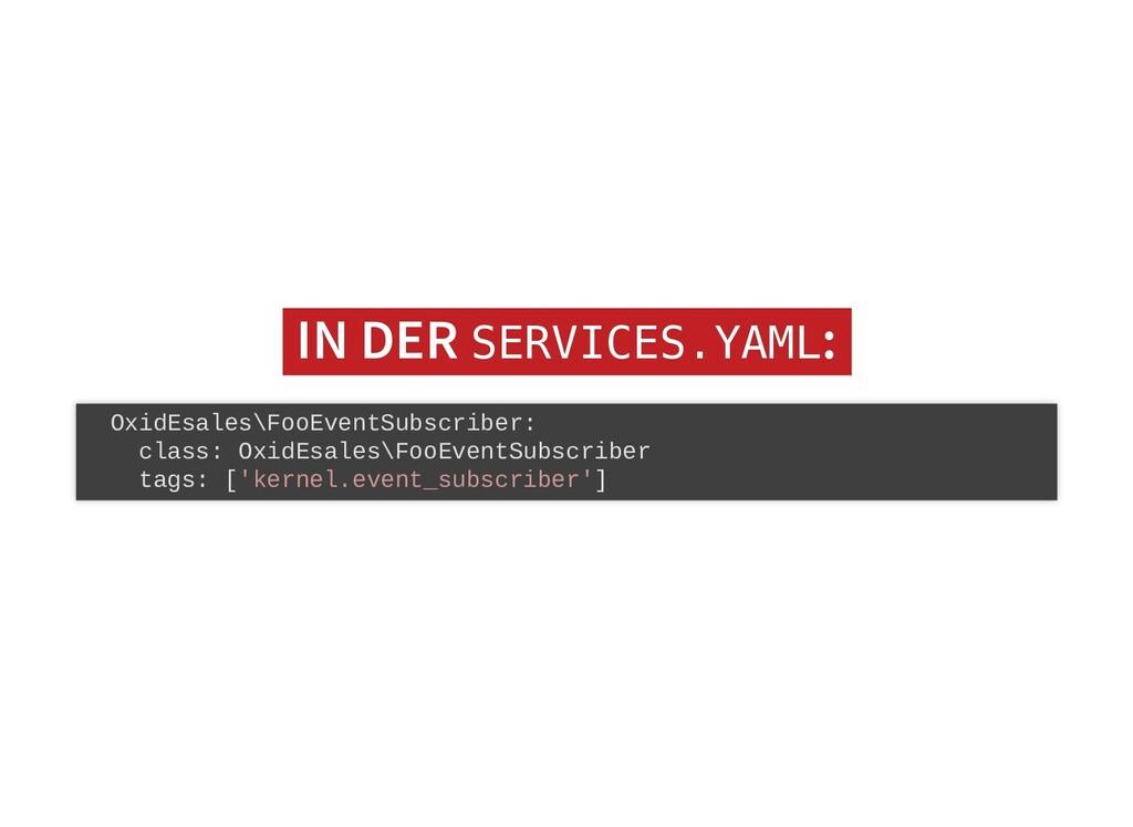 IN DER IN DER SERVICES.YAML SERVICES.YAML: : Ox...