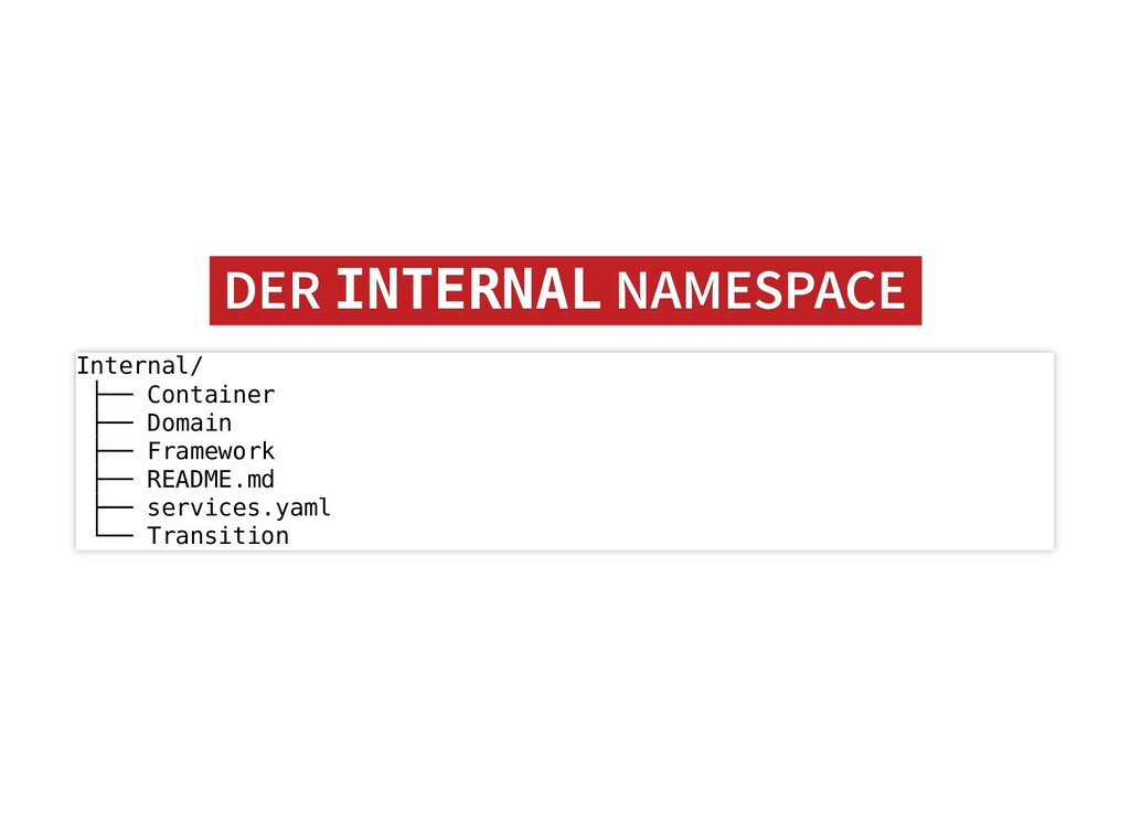 DER DER INTERNAL INTERNAL NAMESPACE NAMESPACE I...