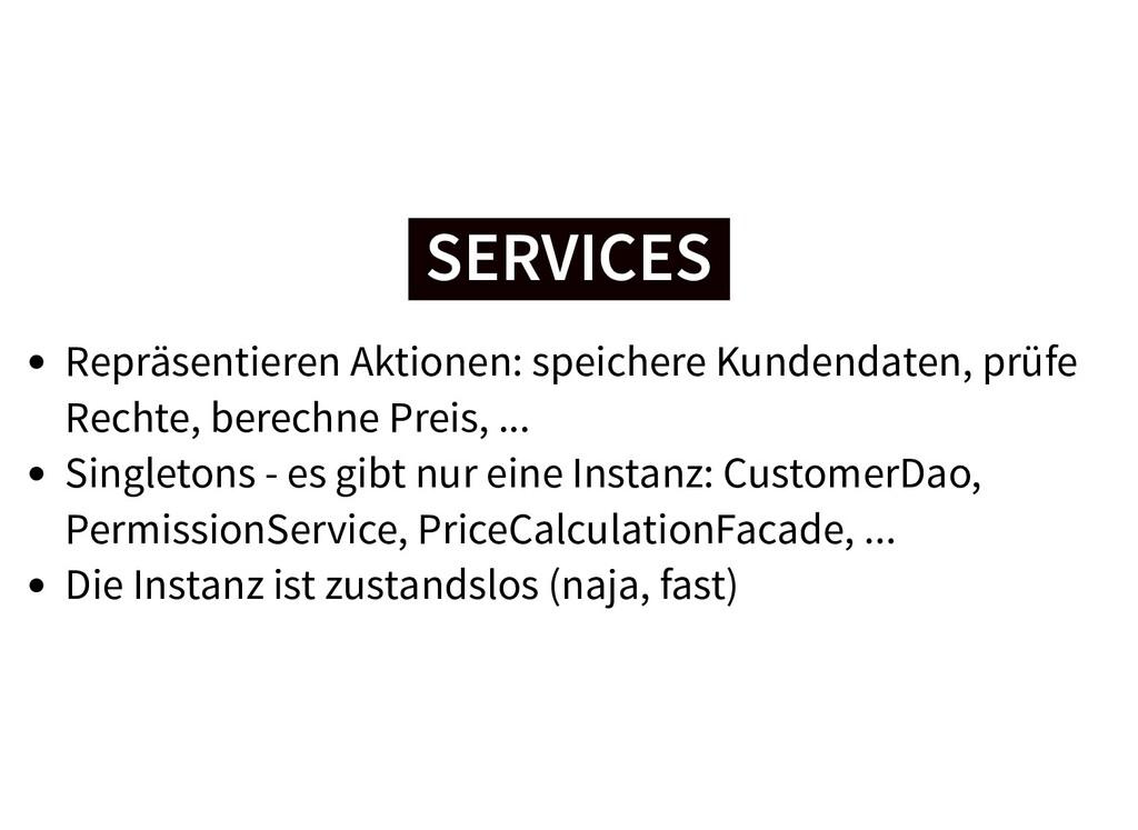 SERVICES SERVICES Repräsentieren Aktionen: spei...