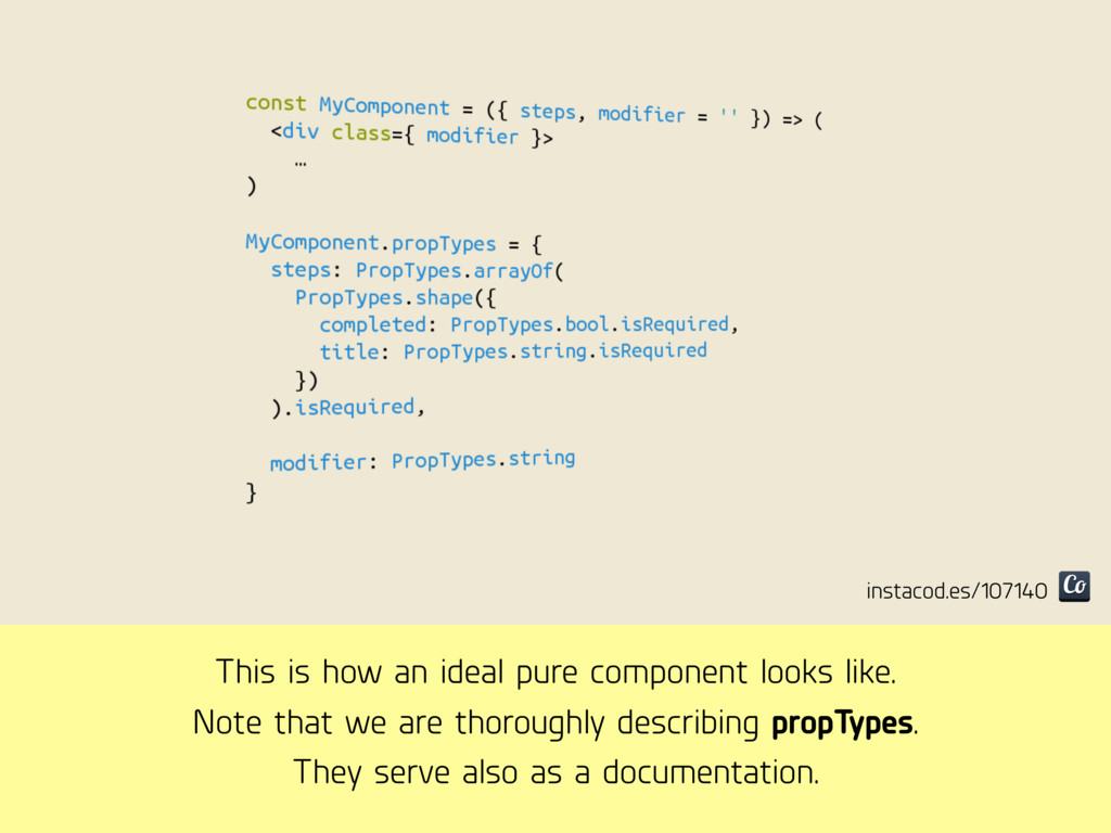 This is how an ideal pure component looks like....