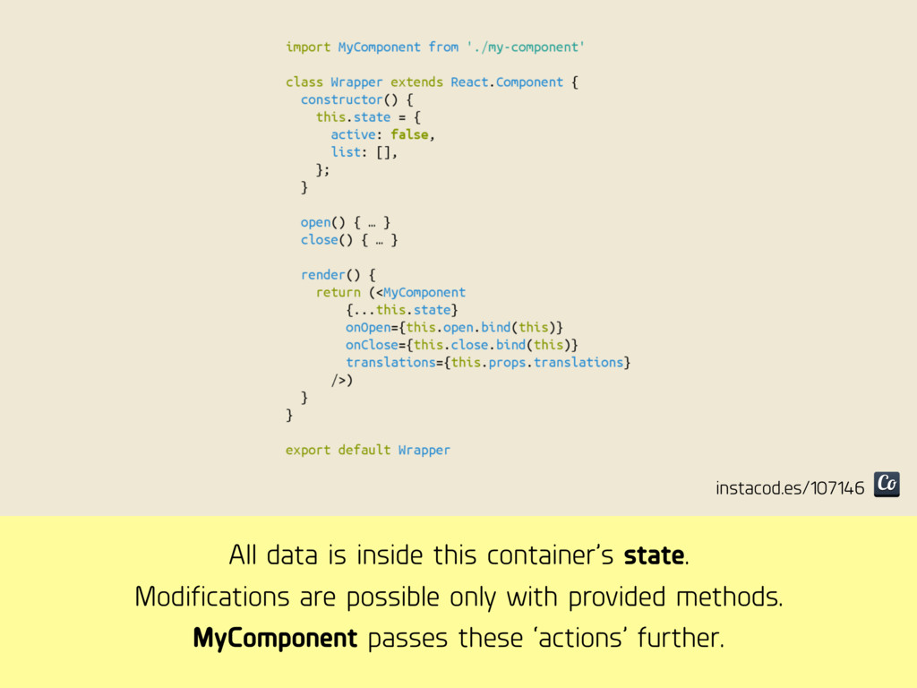 All data is inside this container's state. Modi...
