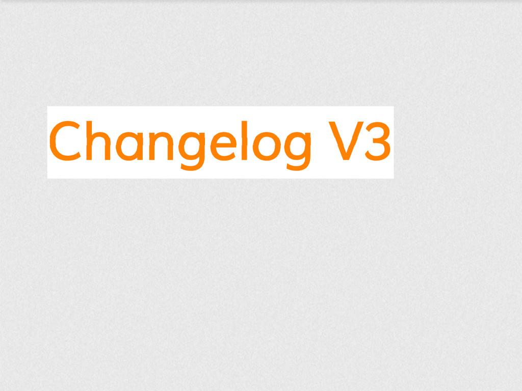 Changelog V3