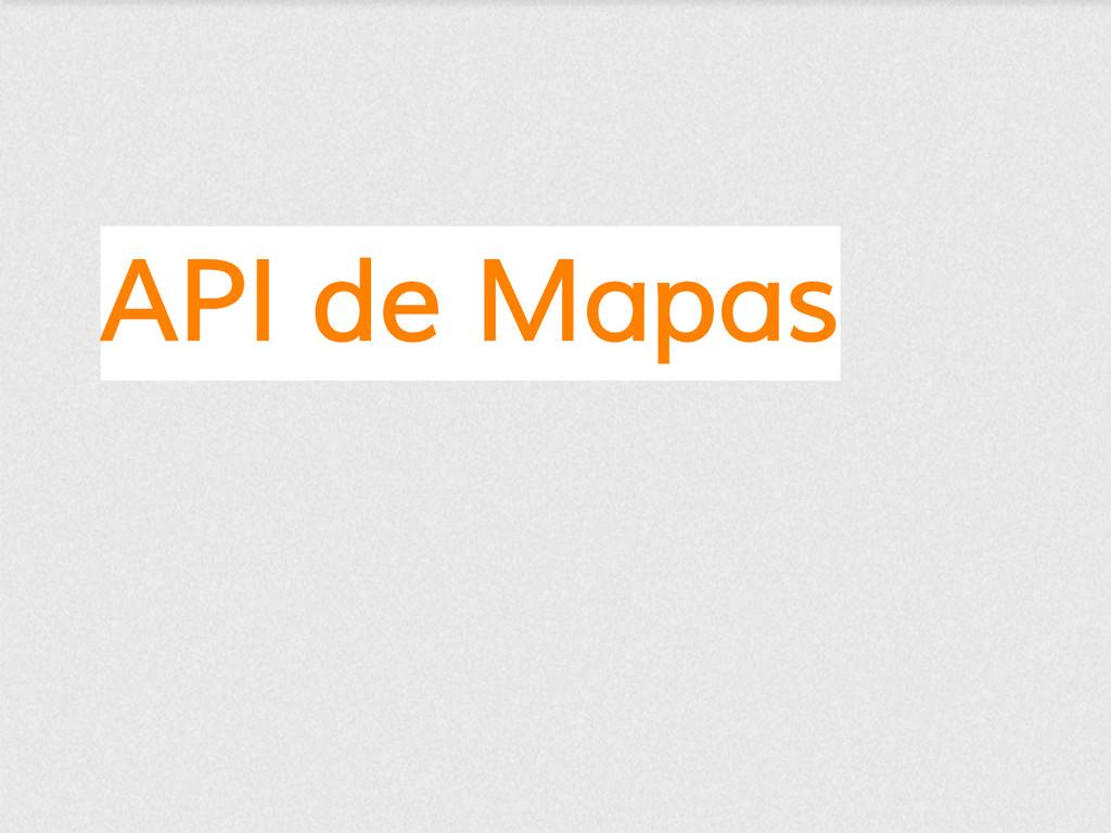 API de Mapas