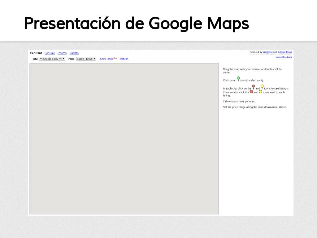 Presentación de Google Maps