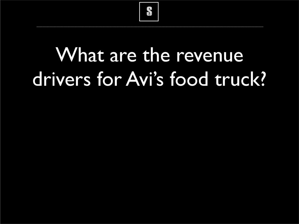 S What are the revenue drivers for Avi's food t...