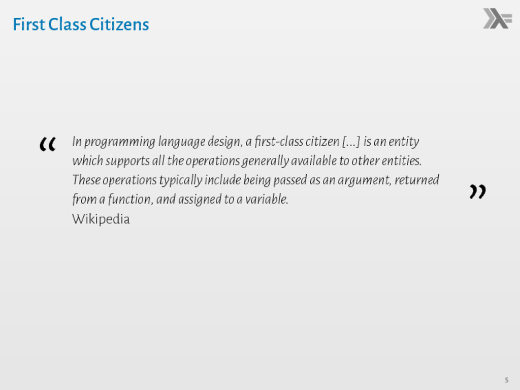 "First Class Citizens "" Inprogramminglanguagedes..."