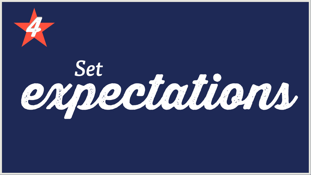 4 4 expectations Set