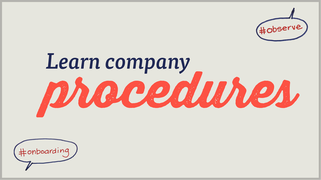 procedures Learn company
