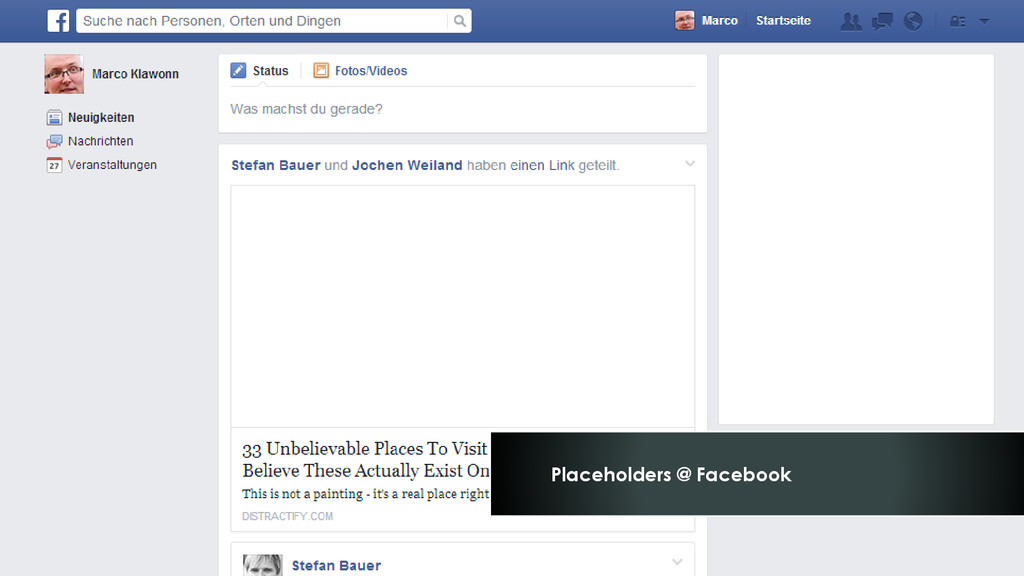 Placeholders @ Facebook