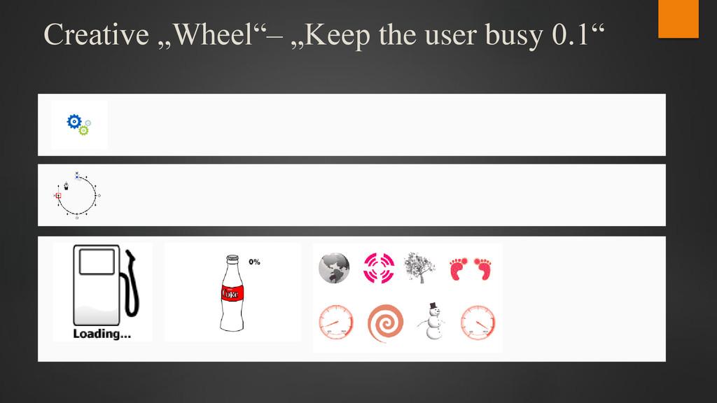 "Creative ""Wheel""– ""Keep the user busy 0.1"""