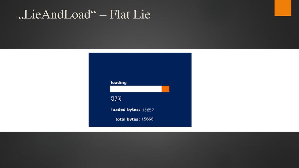 """""""LieAndLoad"""" – Flat Lie"""