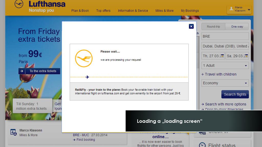 "Loading a ""loading screen"""
