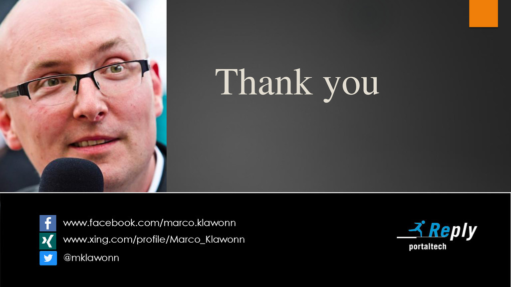 Thank you www.facebook.com/marco.klawonn www.xi...