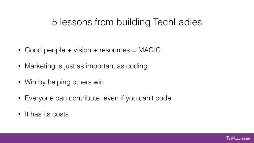 TechLadies.co 5 lessons from building TechLadie...